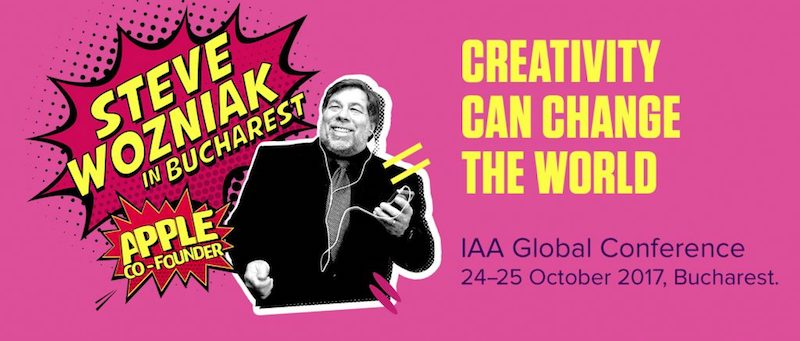 "Worldwide leaders in Tech & Creativity will be in Bucharest (October, 24 – 25) for the 2017 IAA Global Conference ""Creativity Can Change The World"""