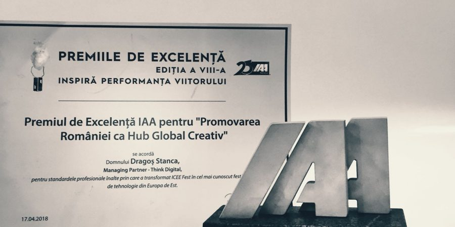 iCEE.fest awarded by the IAA for promoting Romania as global creative hub
