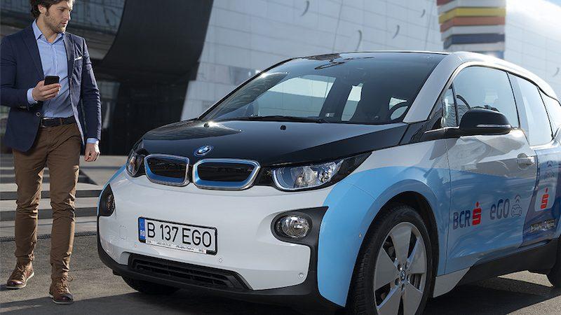 BCR eGO, primul serviciu de car sharing cu mașini electrice cu card bancar contactless