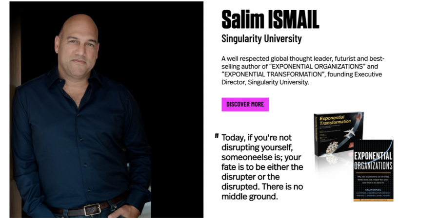 "Meet Our Special Guest at iCEE.fest – UPGRADE 100:  The best-selling author, futurist, business strategist and serial entrepreneur Salim Ismail, co-founder of ""Singularity University"""