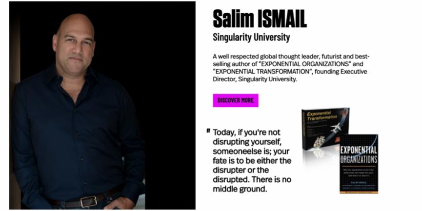 """Co-fondatorul """"Singularity University"""", Salim Ismail, vine la iCEE.fest: UPGRADE 100 pentru a vorbi despre tehnologie, viitor și ultima sa carte, într-o discuție moderată de Andreea Esca"""