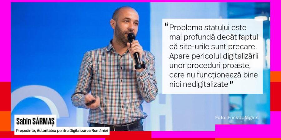 EXCLUSIV. Digitalizăm România sau birocrația? Ce e Autoritatea pentru Digitalizarea României și ce planuri are Sabin Sărmaș, președintele noii structuri