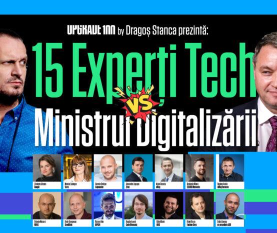 6 MILIARDE DE EURO pentru digitalizarea României: 15 experți tech îi pun întrebări-cheie noului ministru al digitalizării, Ciprian Teleman, la UPGRADE 100 Live | Video & Podcast
